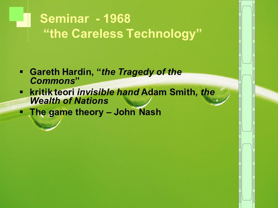 Seminar - 1968 the Careless Technology