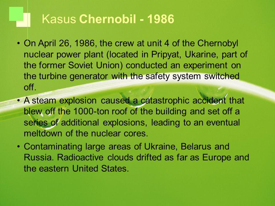 Kasus Chernobil - 1986