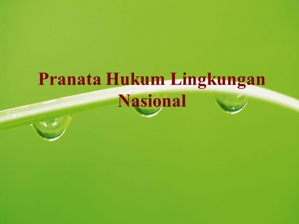 Pranata Hukum Lingkungan Nasional