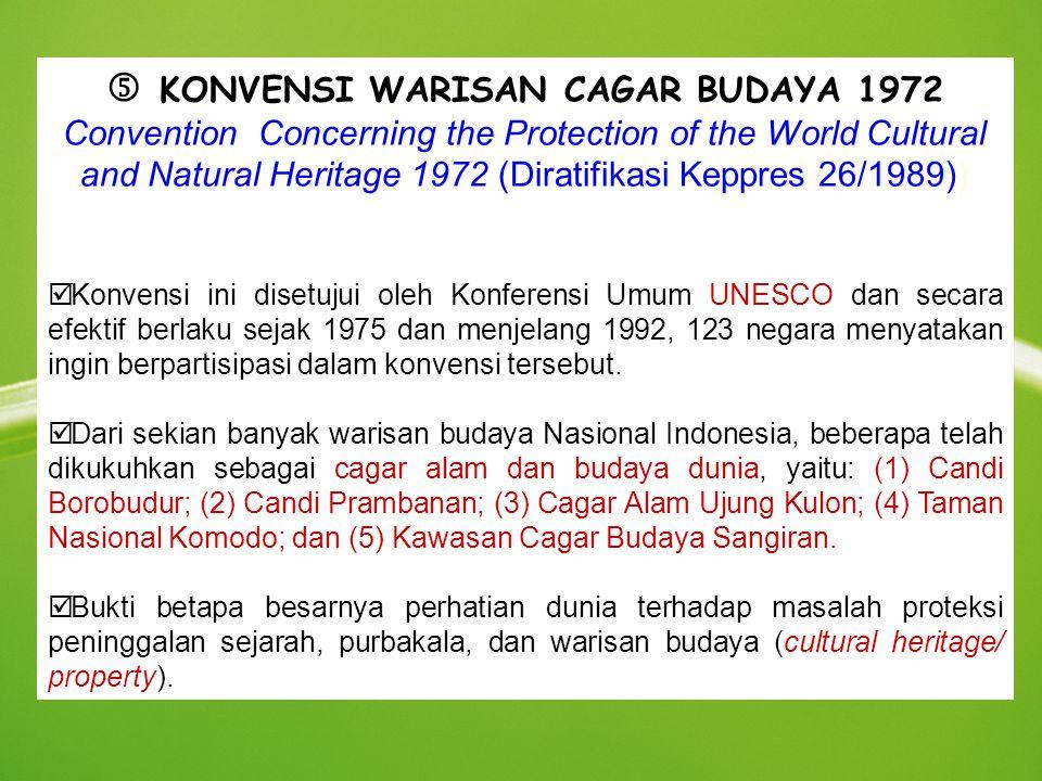  KONVENSI WARISAN CAGAR BUDAYA 1972