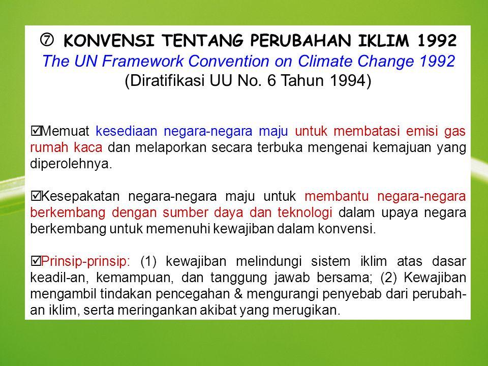  KONVENSI TENTANG PERUBAHAN IKLIM 1992
