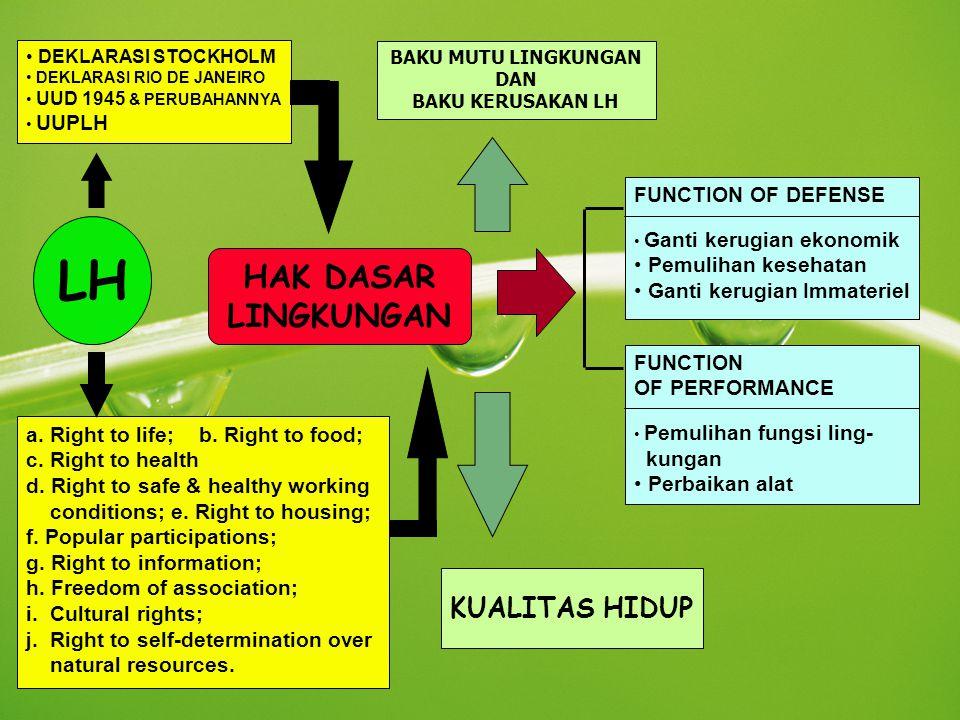 LH HAK DASAR LINGKUNGAN KUALITAS HIDUP FUNCTION OF DEFENSE