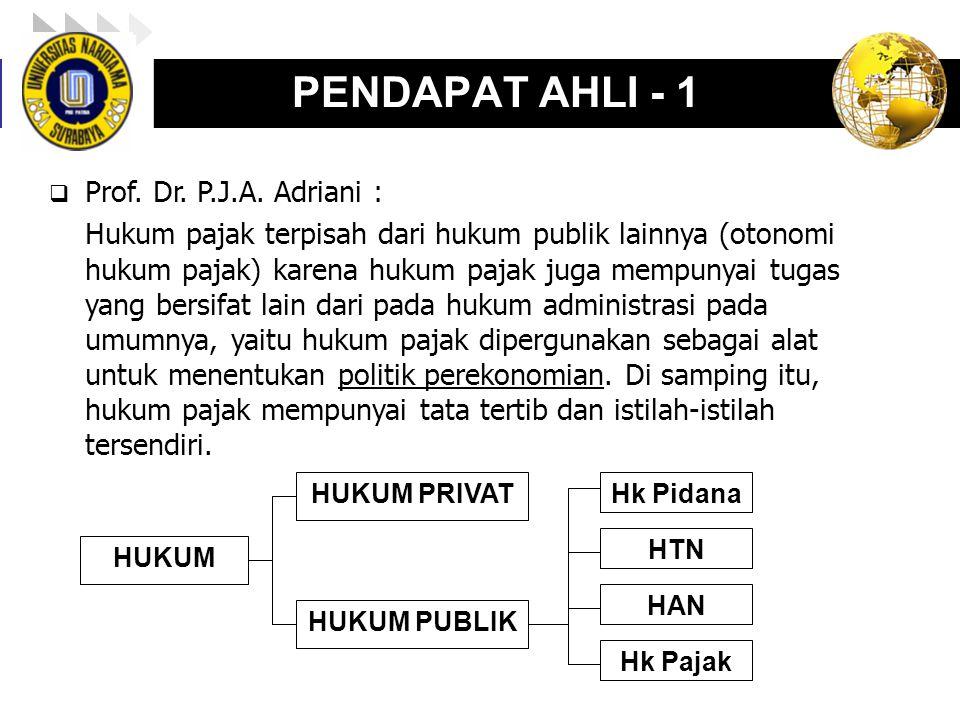 PENDAPAT AHLI - 1 Prof. Dr. P.J.A. Adriani :