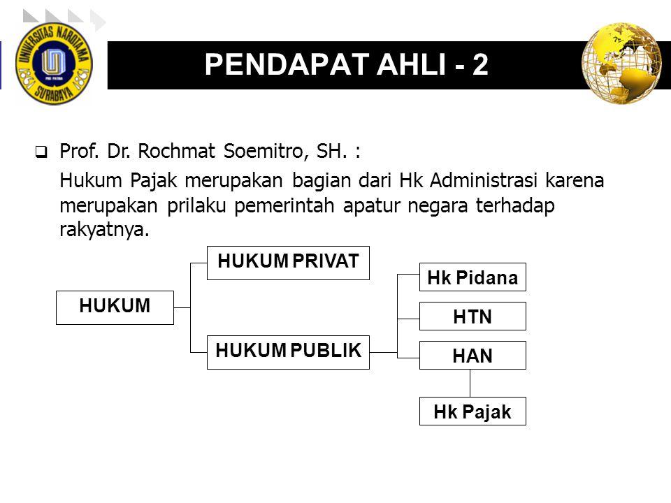 PENDAPAT AHLI - 2 Prof. Dr. Rochmat Soemitro, SH. :