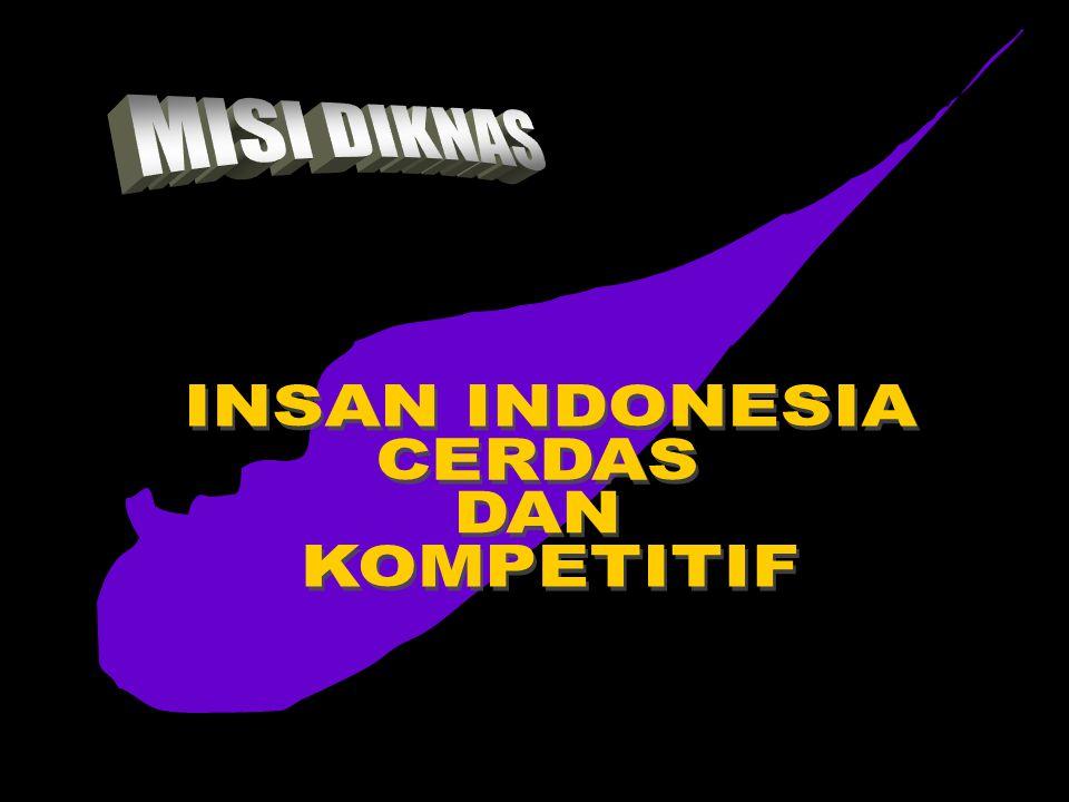 INSAN INDONESIA CERDAS DAN KOMPETITIF MISI DIKNAS