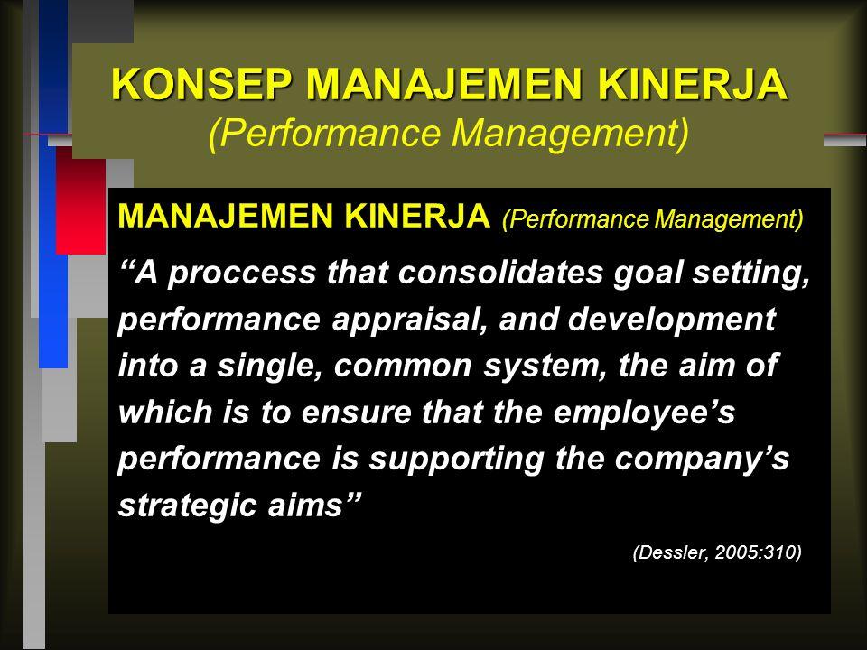 KONSEP MANAJEMEN KINERJA (Performance Management)