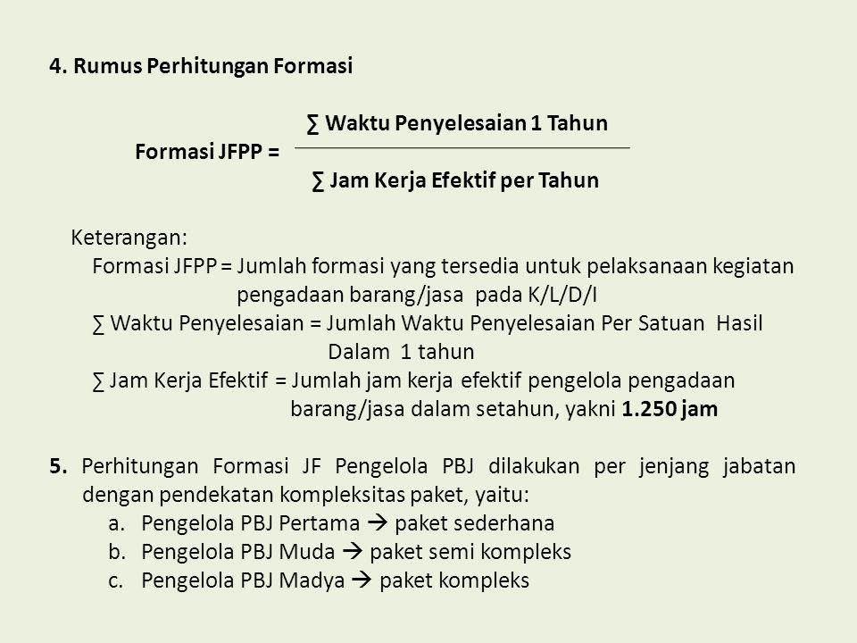 4. Rumus Perhitungan Formasi
