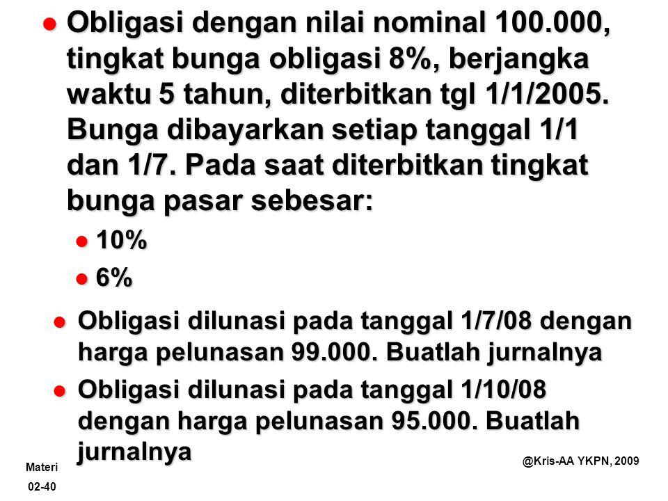 Obligasi dengan nilai nominal 100