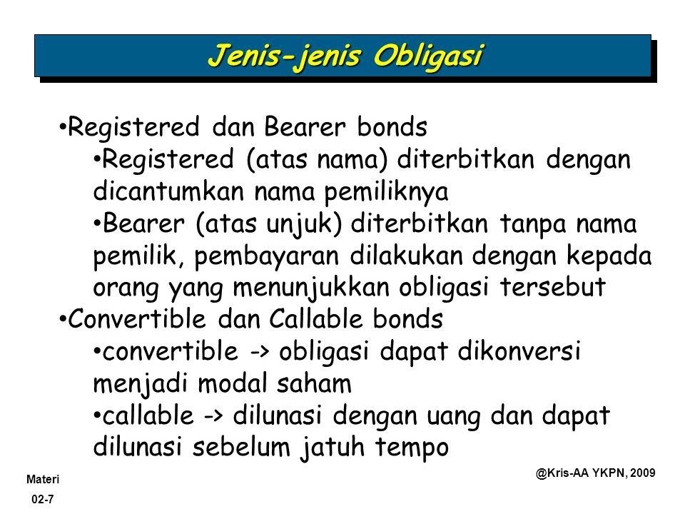 Jenis-jenis Obligasi Registered dan Bearer bonds