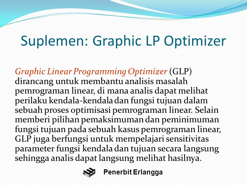 Suplemen: Graphic LP Optimizer