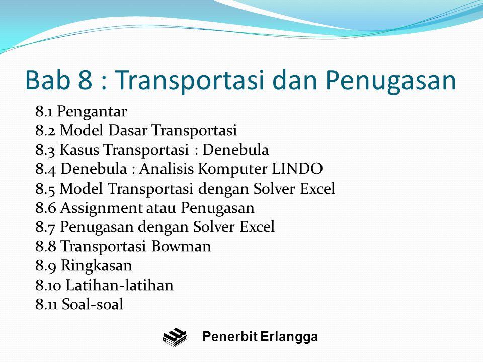 Bab 8 : Transportasi dan Penugasan
