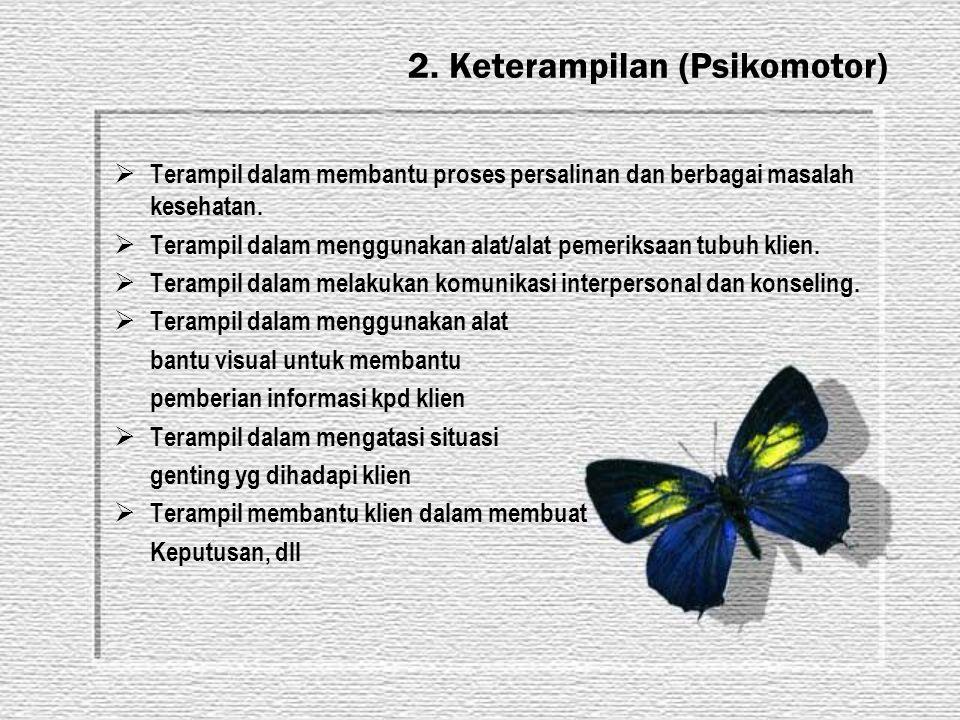 2. Keterampilan (Psikomotor)