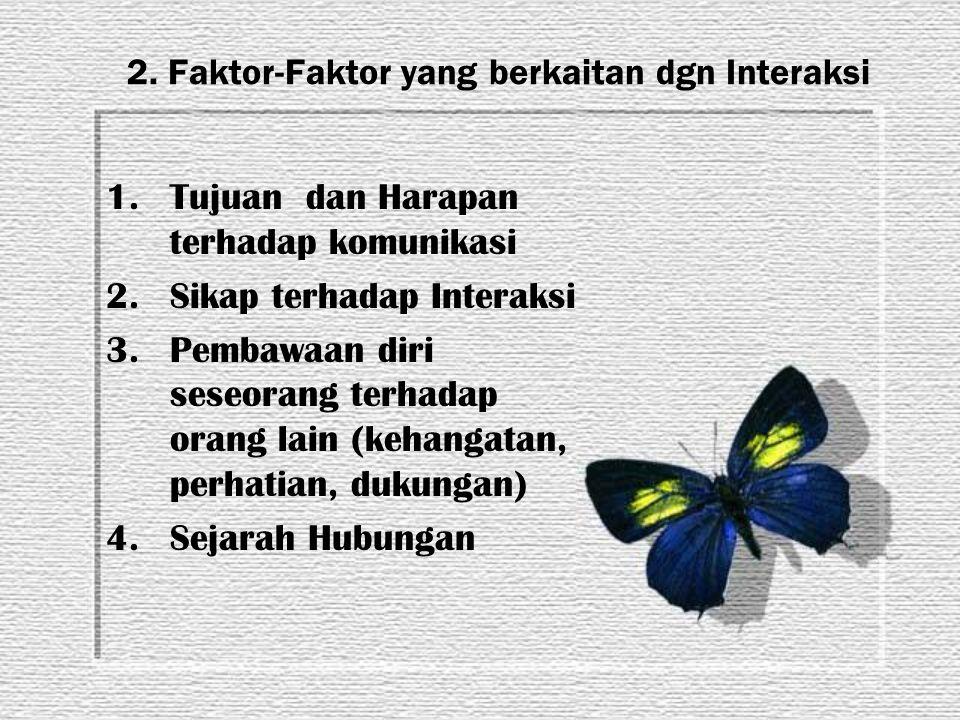 2. Faktor-Faktor yang berkaitan dgn Interaksi