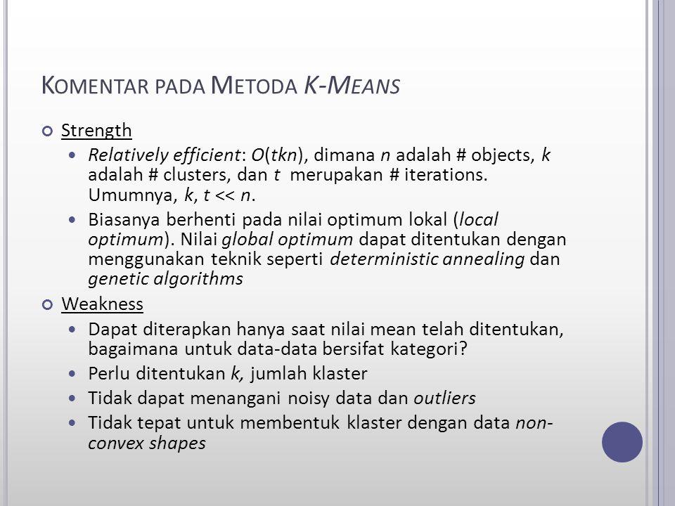 Komentar pada Metoda K-Means