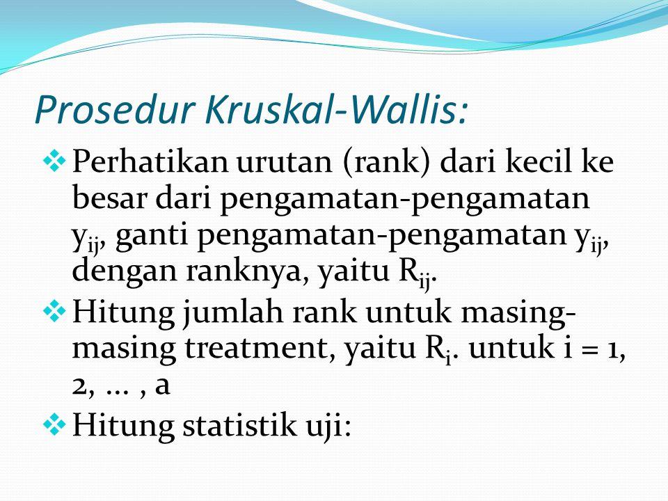 Prosedur Kruskal-Wallis: