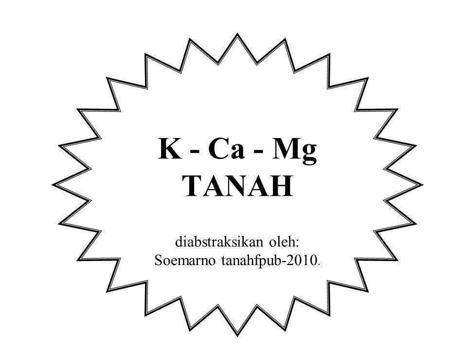K - Ca - Mg TANAH diabstraksikan oleh: Soemarno tanahfpub-2010.