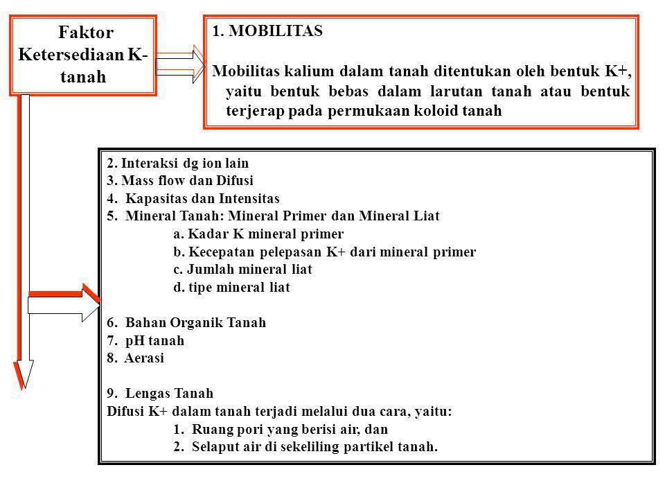 Faktor Ketersediaan K-tanah
