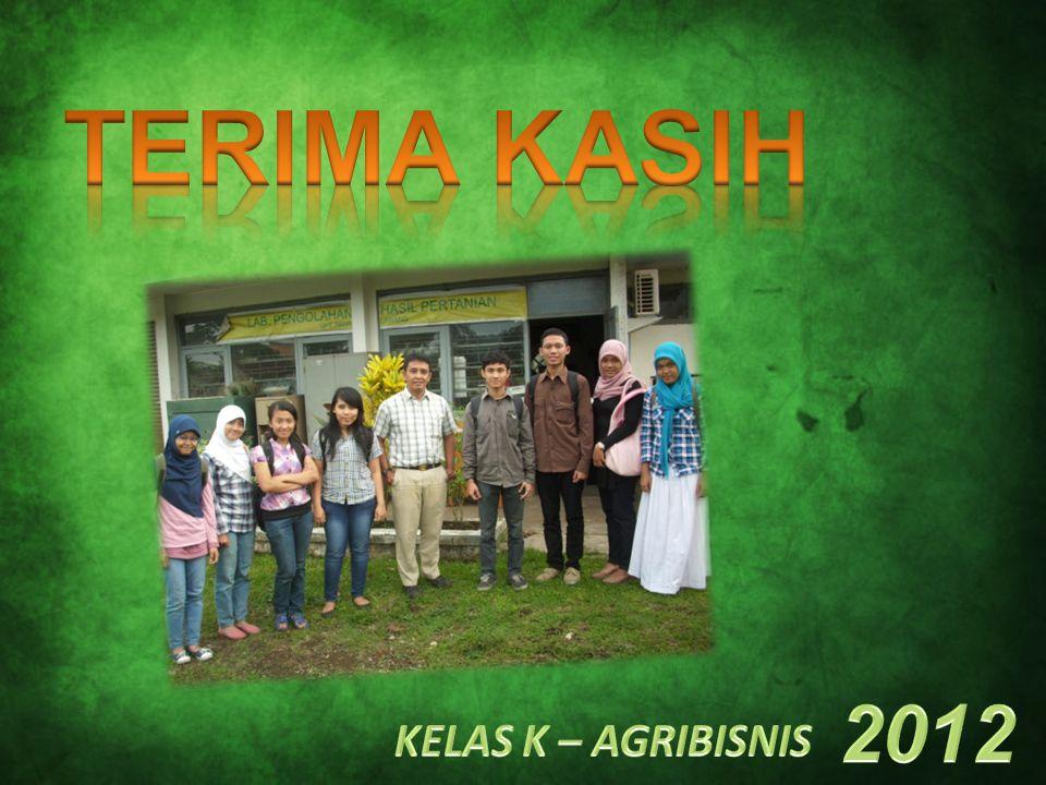 TERIMA KASIH 2012 KELAS K – AGRIBISNIS