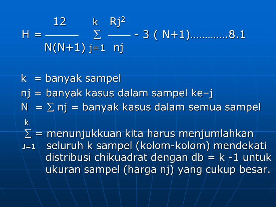 12 k Rj2 H =    - 3 ( N+1)………….8.1 N(N+1) j=1 nj