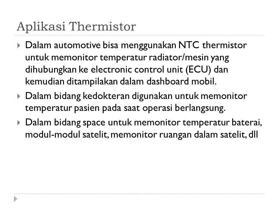 Aplikasi Thermistor