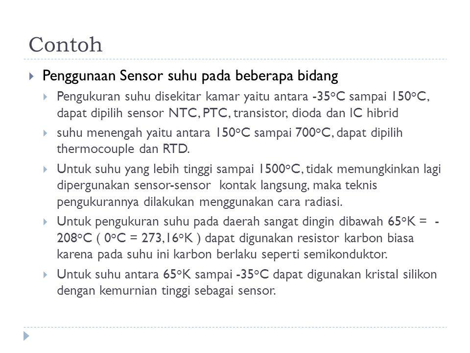 Contoh Penggunaan Sensor suhu pada beberapa bidang