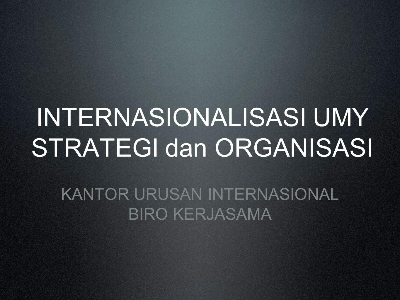 INTERNASIONALISASI UMY STRATEGI dan ORGANISASI
