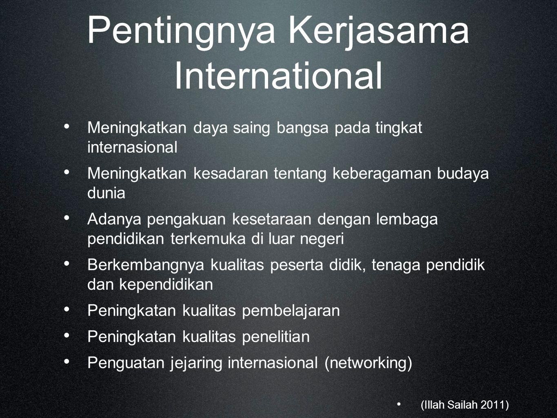 Pentingnya Kerjasama International