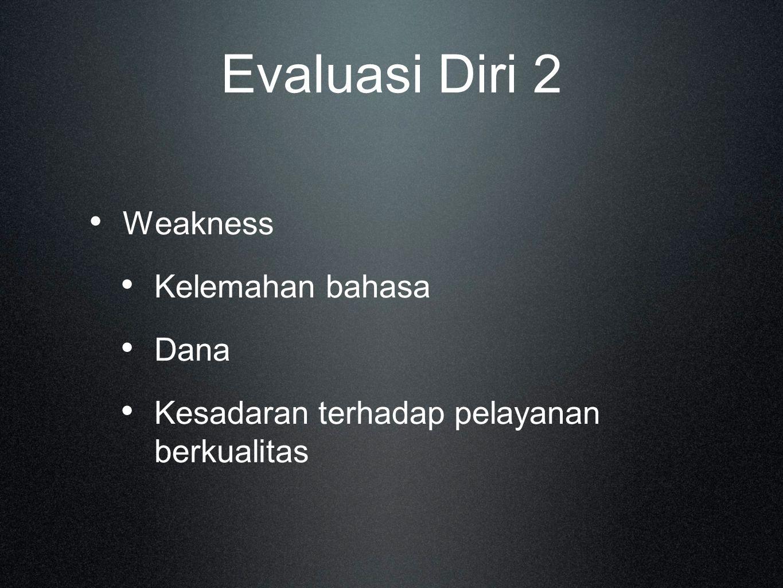 Evaluasi Diri 2 Weakness Kelemahan bahasa Dana