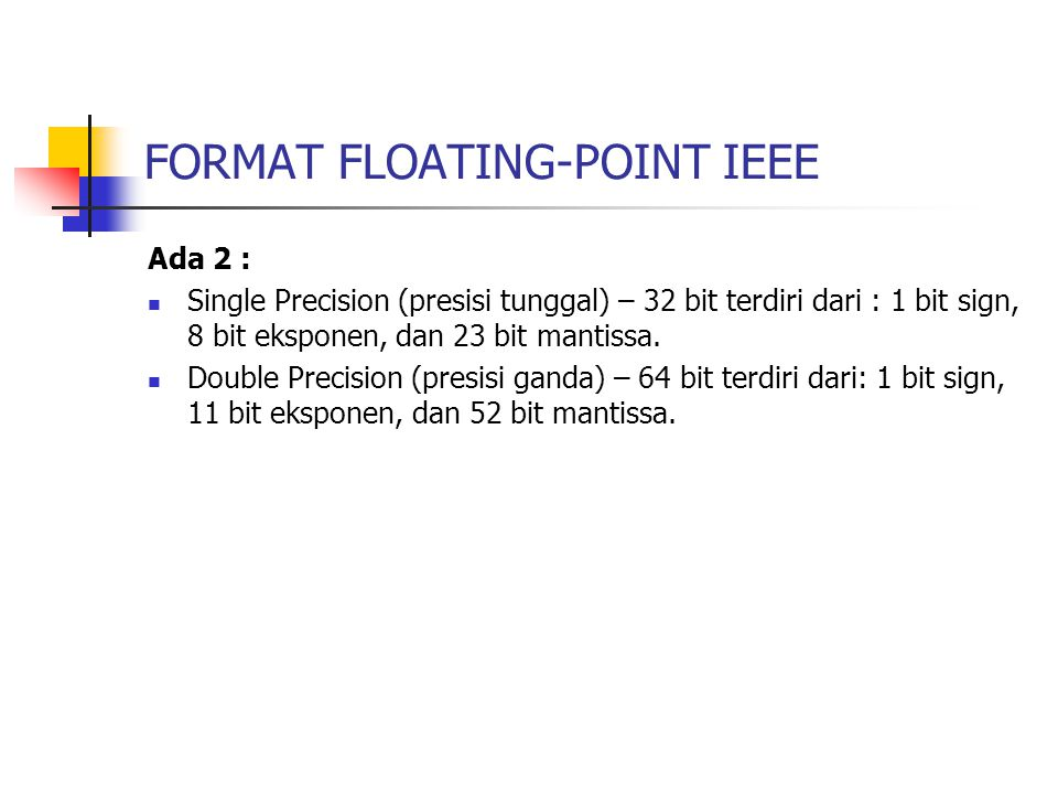 FORMAT FLOATING-POINT IEEE