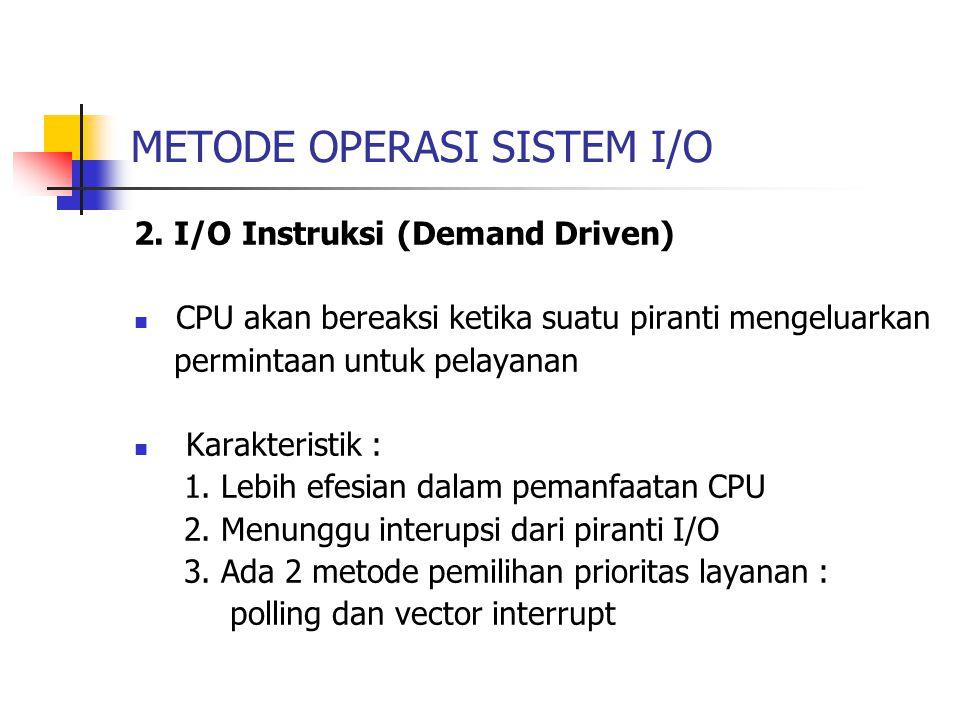 METODE OPERASI SISTEM I/O