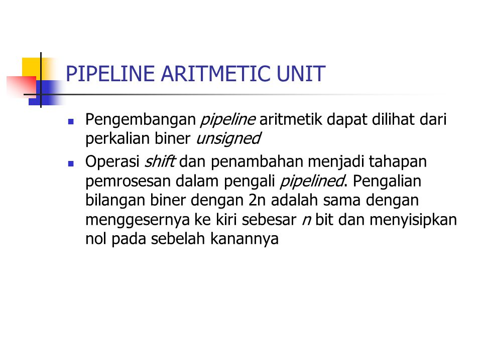 PIPELINE ARITMETIC UNIT