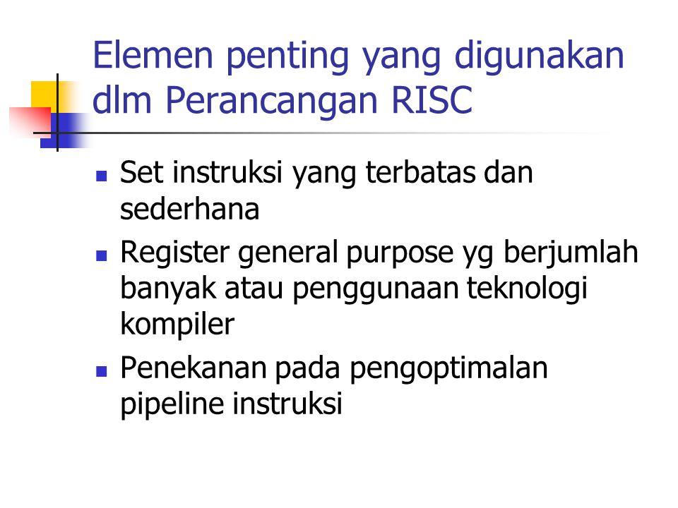 Elemen penting yang digunakan dlm Perancangan RISC