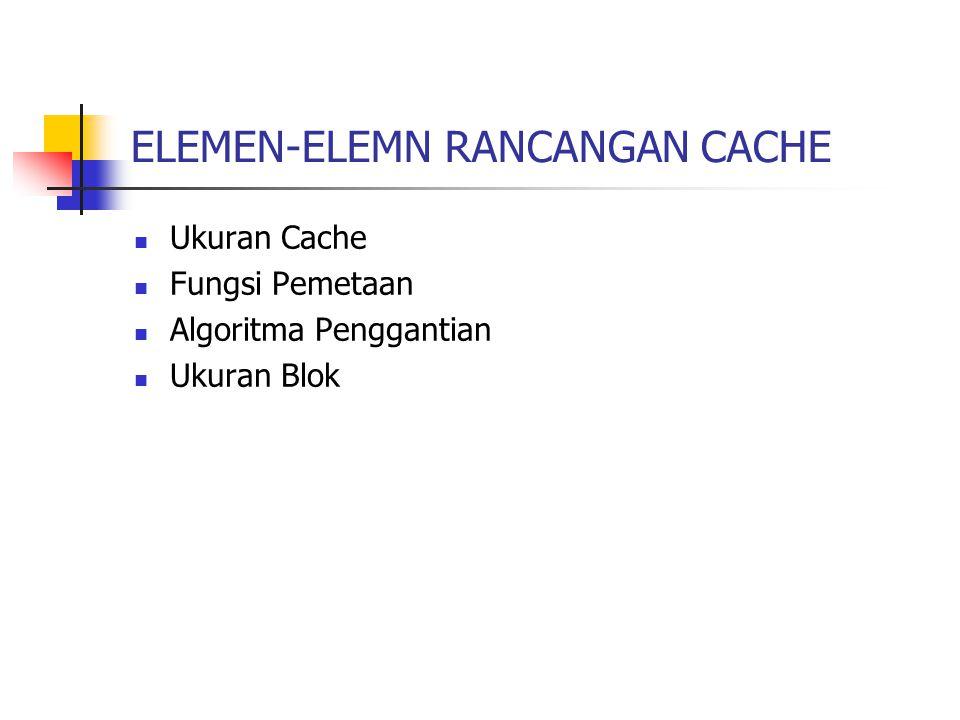 ELEMEN-ELEMN RANCANGAN CACHE