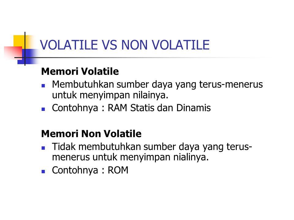 VOLATILE VS NON VOLATILE