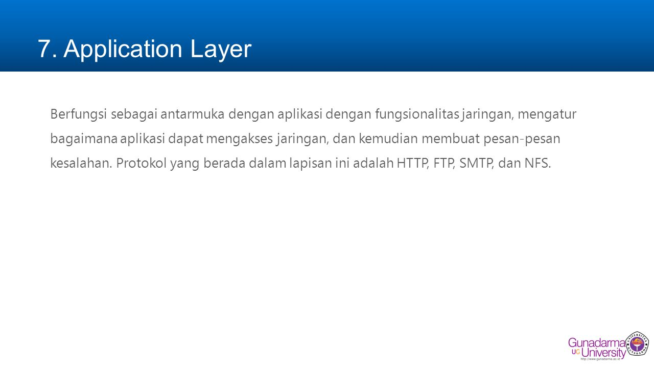 7. Application Layer