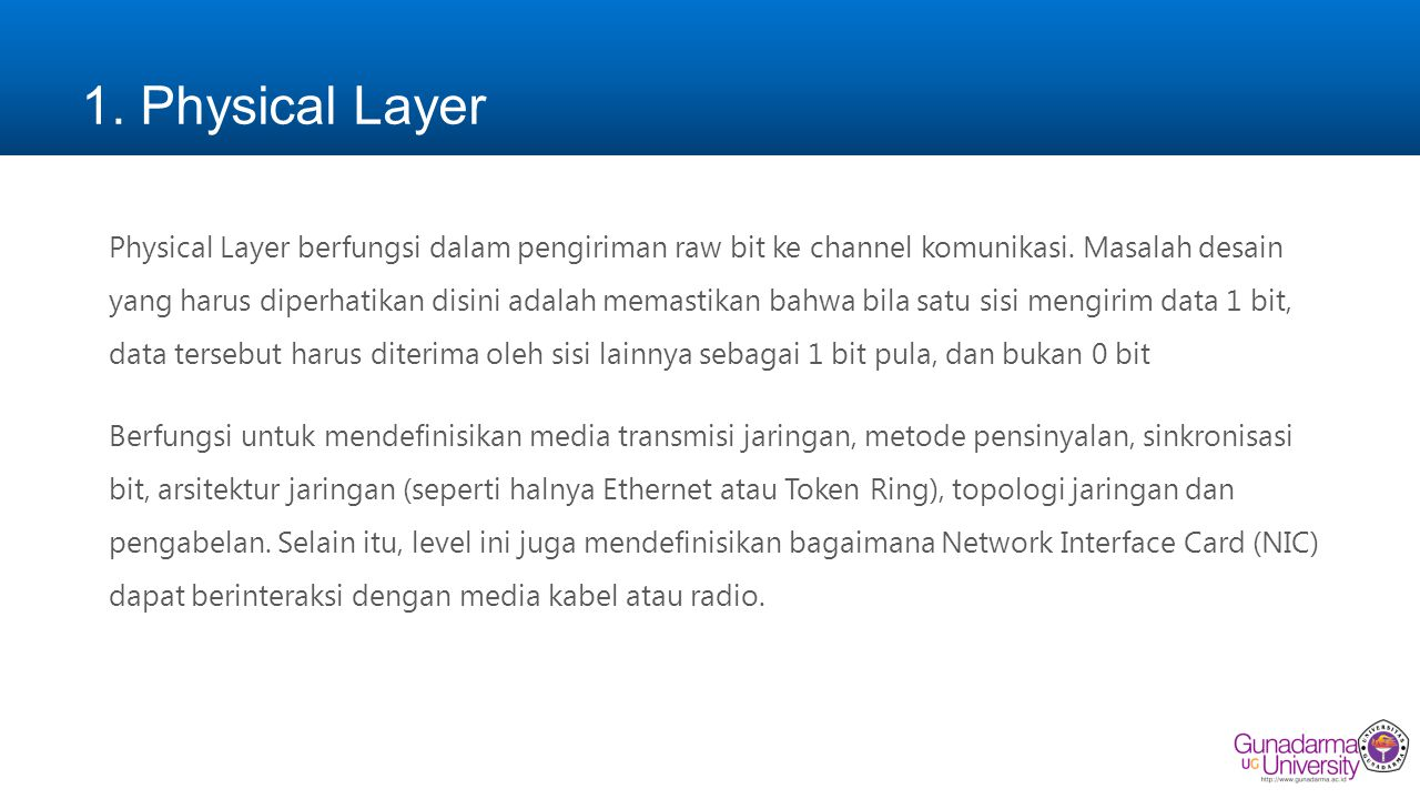 1. Physical Layer
