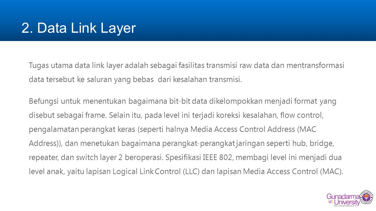 2. Data Link Layer