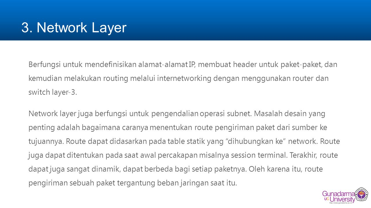 3. Network Layer