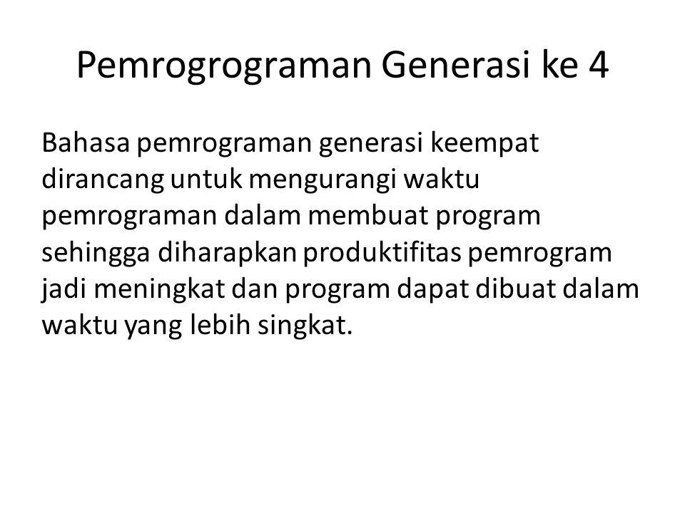 Pemrogrograman Generasi ke 4