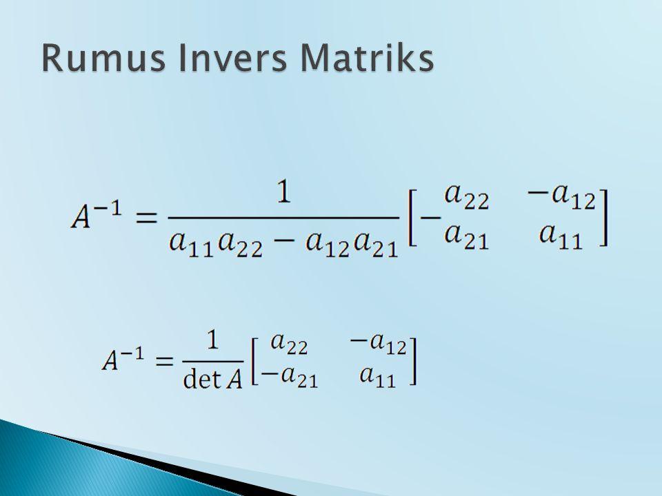 Rumus Invers Matriks