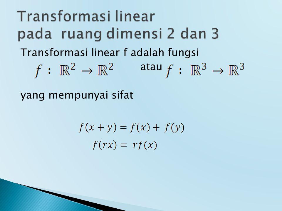 Transformasi linear pada ruang dimensi 2 dan 3
