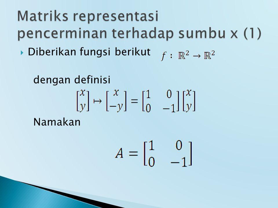 Matriks representasi pencerminan terhadap sumbu x (1)