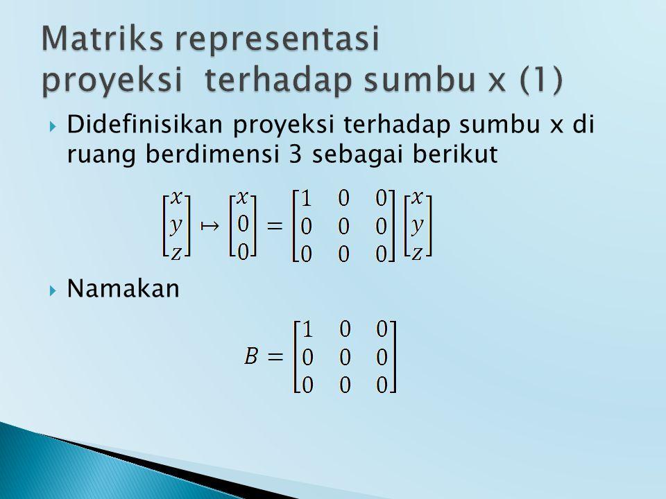 Matriks representasi proyeksi terhadap sumbu x (1)