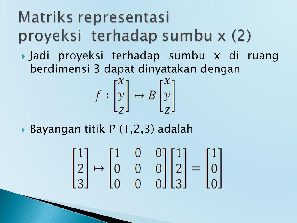 Matriks representasi proyeksi terhadap sumbu x (2)