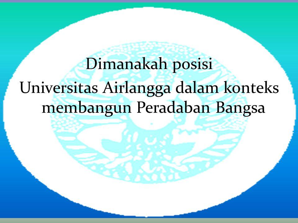 Dimanakah posisi Universitas Airlangga dalam konteks membangun Peradaban Bangsa