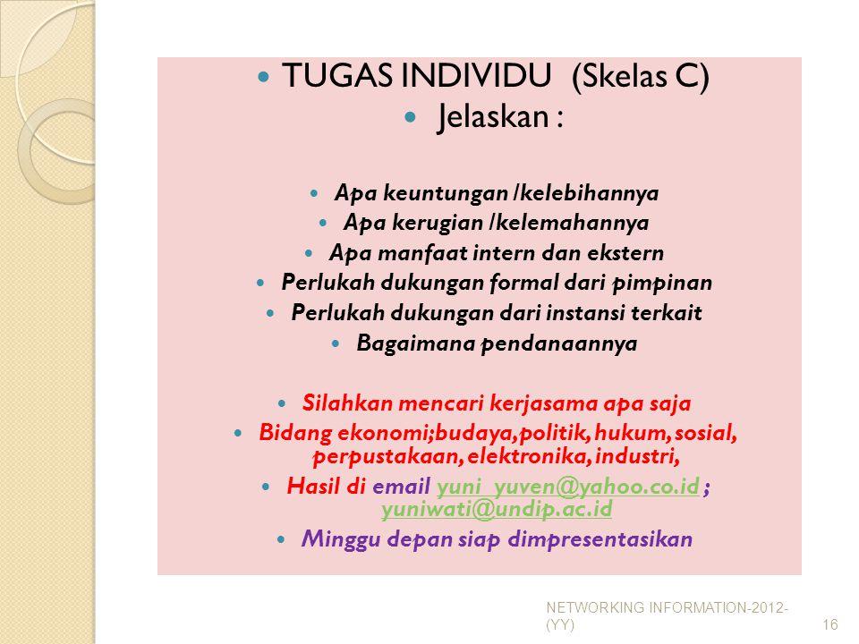 TUGAS INDIVIDU (Skelas C) Jelaskan :