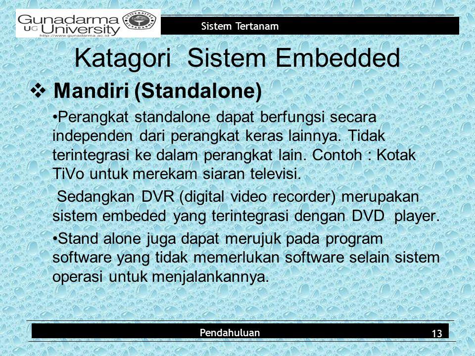 Katagori Sistem Embedded