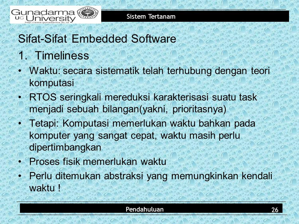 Sifat-Sifat Embedded Software Timeliness