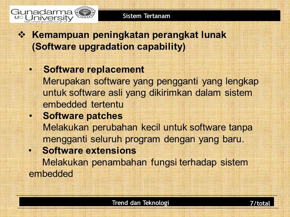 Melakukan penambahan fungsi terhadap sistem embedded