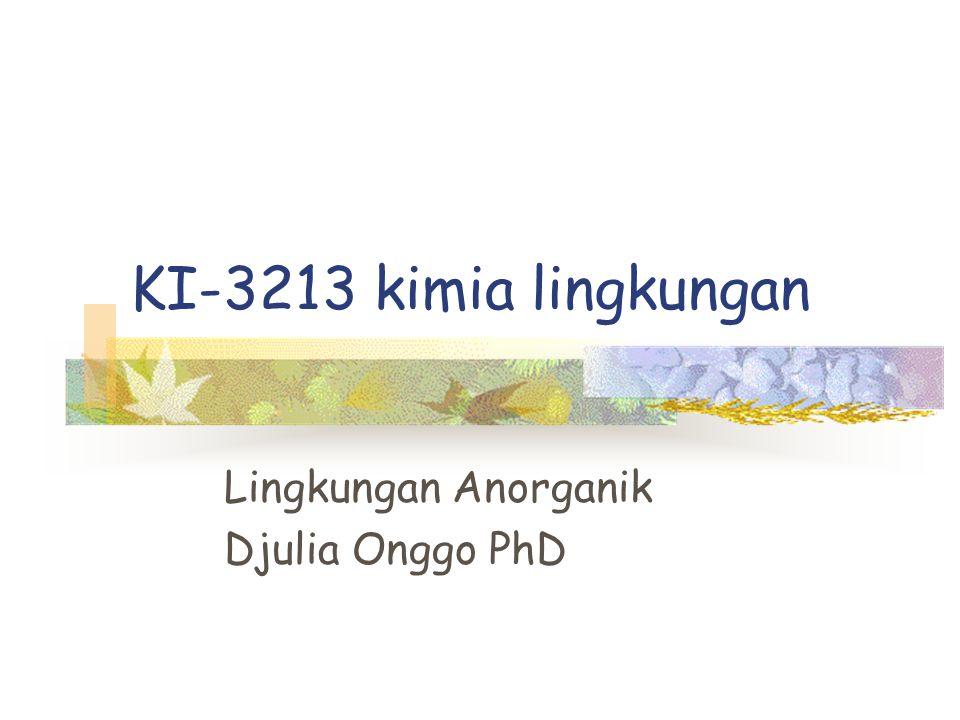 Lingkungan Anorganik Djulia Onggo PhD